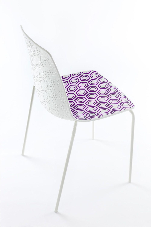 Alhambra chaise design en m tal et technopolym re for Chaise en couleur