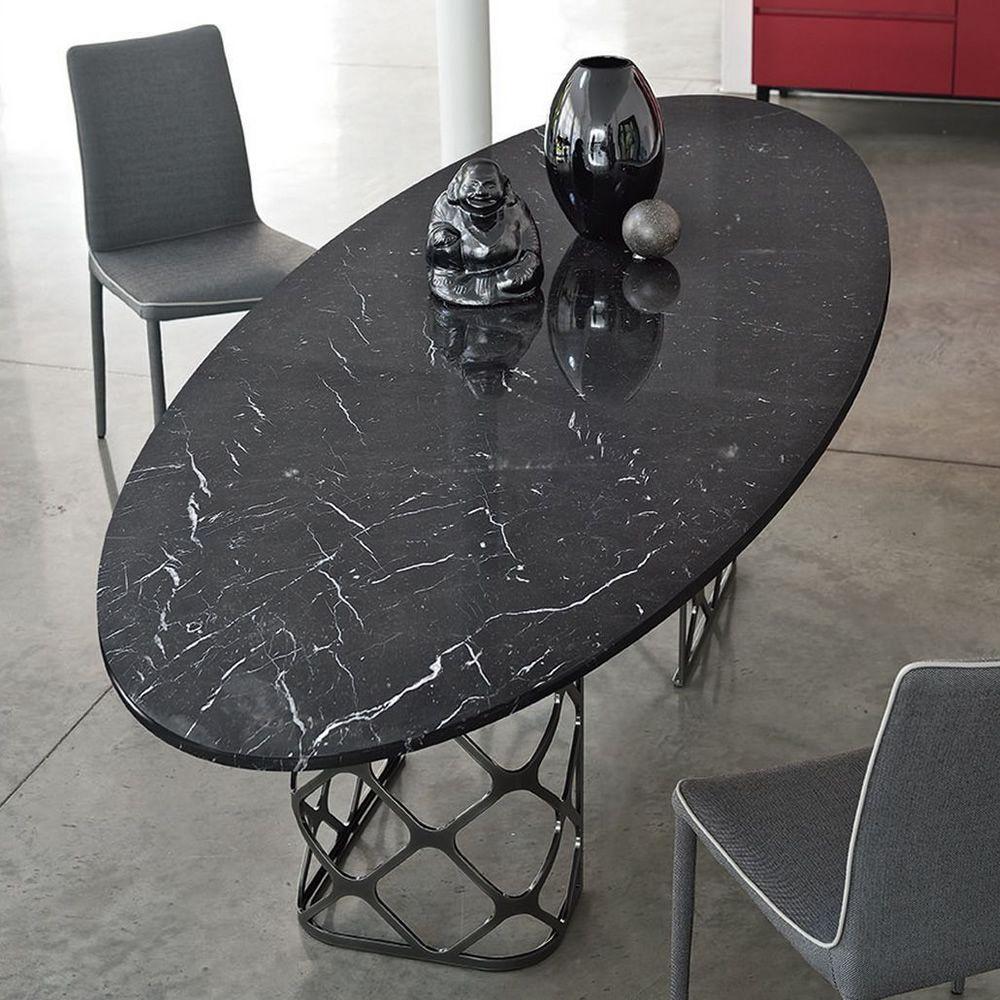 Majesty tavolo di design di bontempi casa in metallo for Tavolo marmo design