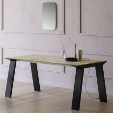 Artù R - Miniforms rectangular table in wood, available in different dimensions