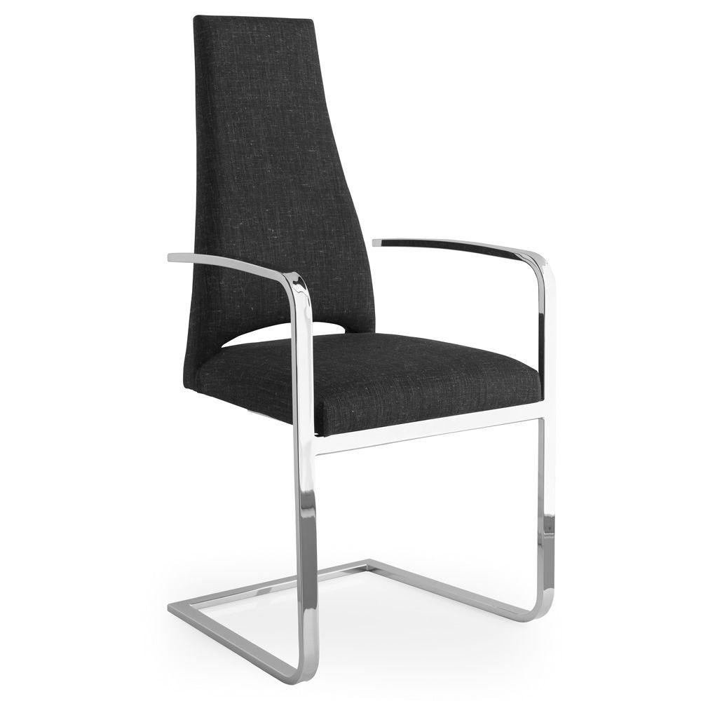 Cs1381 juliet chaise calligaris en m tal avec rev tement for Chaise en tissu noir
