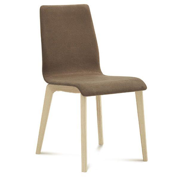 Jude l chaise domitalia en bois assise garnie sediarreda for Chaise domitalia