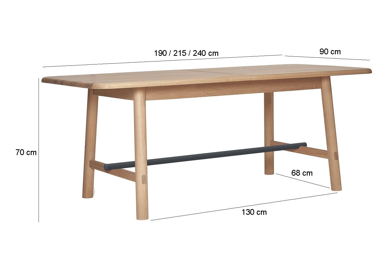 H l ne mesa extensible de madera y metal sediarreda for Mesa extensible de madera