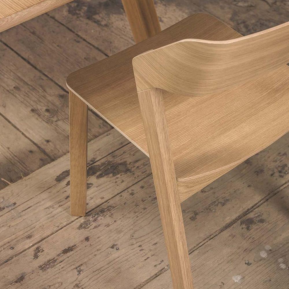 Merano - Sedia Ton in legno di rovere, impilabile - Sediarreda
