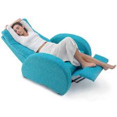 Karma - Moderna poltrona Global Relax manuale, reclinabile, diversi tessuti