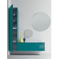 Logika 1 - Mobile ingresso con due specchi, disponibile in diversi colori