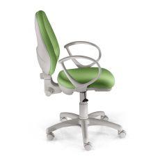 Bagger - Sedia operativa per ufficio, struttura grigia o nera, con schienale e seduta imbottiti, con o senza braccioli, diverse finiture disponibili