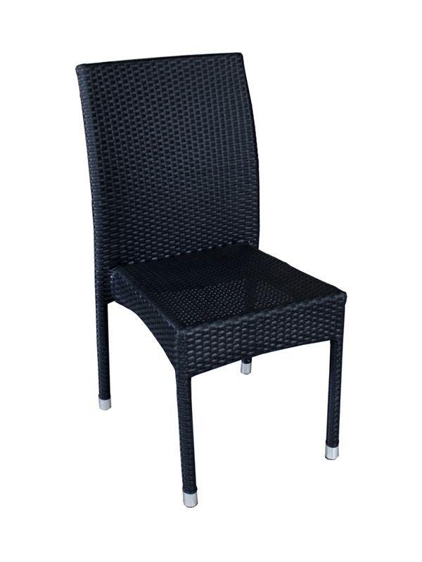 Sedie Per Esterno In Rattan.A80e Sedia Per Giardino In Alluminio E Simil Rattan Impilabile