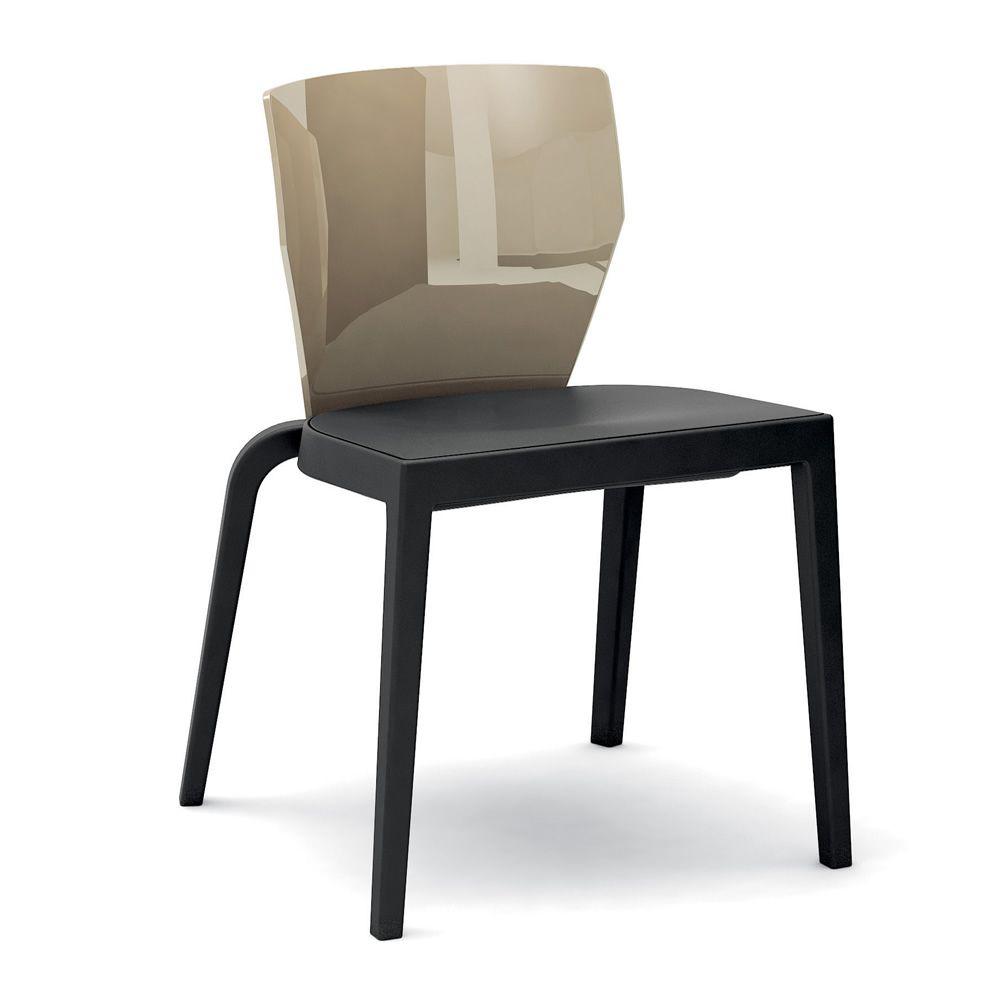 bi chaise empilable infiniti en polypropyl ne dossier en. Black Bedroom Furniture Sets. Home Design Ideas