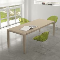 Exteso - Pedrali table in wood, 180x90 cm, extendible, different finishes available