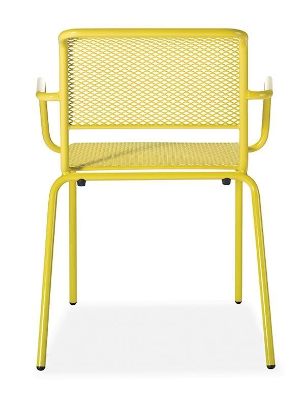 Nassa p sedia metallo di diversi colori con braccioli for Sedia ufficio gialla