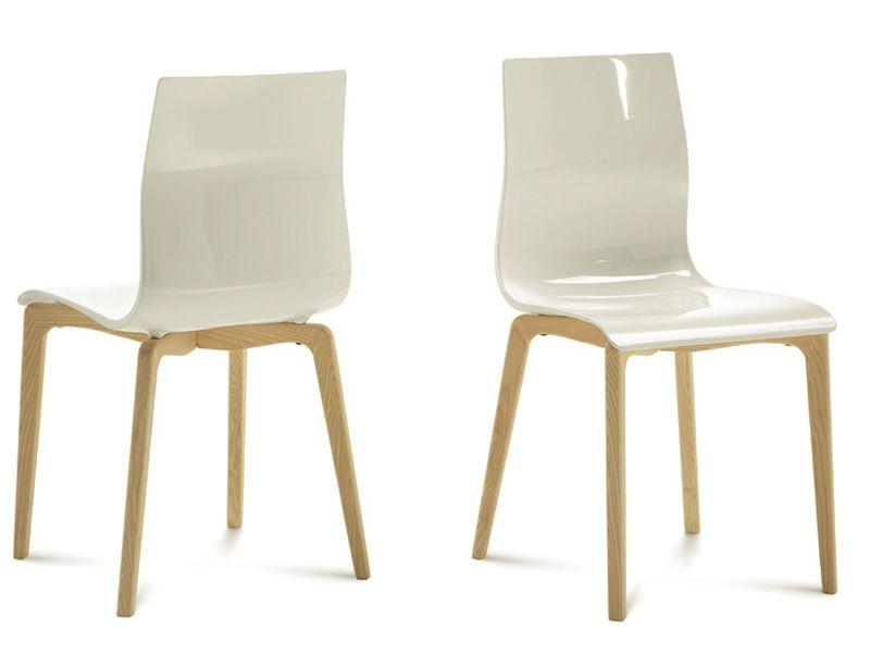 Gel l chaise domitalia en bois et san sediarreda for Chaise domitalia