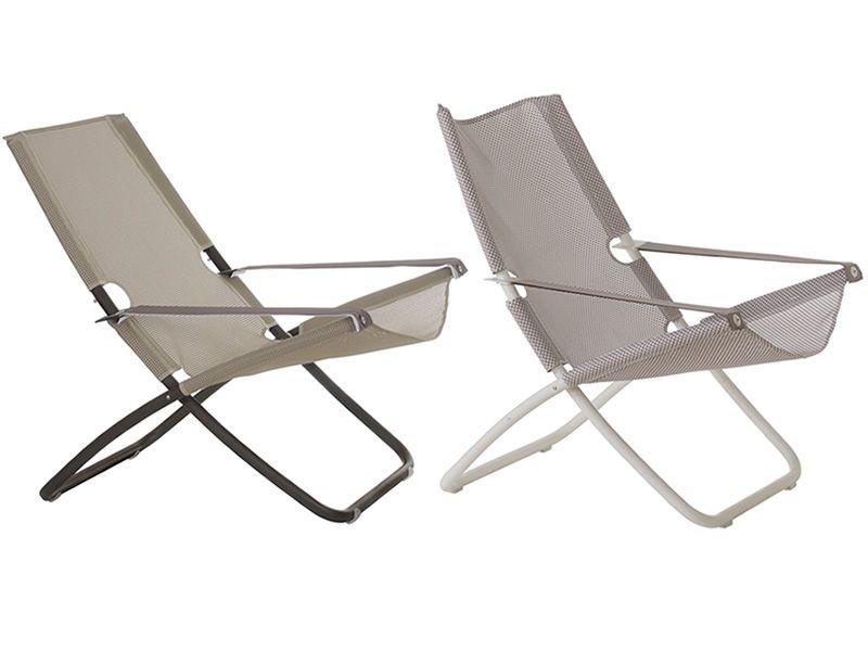 Liegestuhl Klappliegestuhl Metall Holz Oder Kunststoff ~   und Net in Beige oder mit Gestell in Weiß und Net in der Farbe Eis