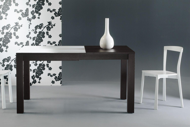 Kubo tavolo allungabile colico design in legno con for Tavolo quadrato calligaris