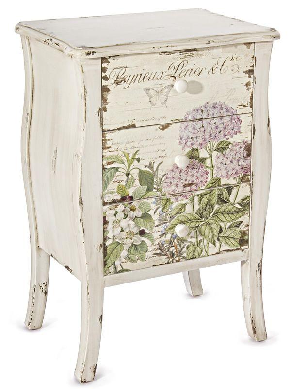 stea schubladenschrank aus holz mit 3 schubladen 47x34. Black Bedroom Furniture Sets. Home Design Ideas