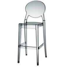 Igloo S 2358 - Polycarbonate stool, seat at 65 or 74 cm, stackable, available in several colours, also for garden