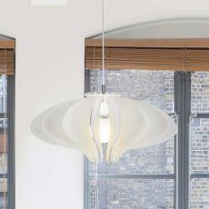 Cigno - Lampe à suspension en méthacrylate, disponible en différentes couleurs