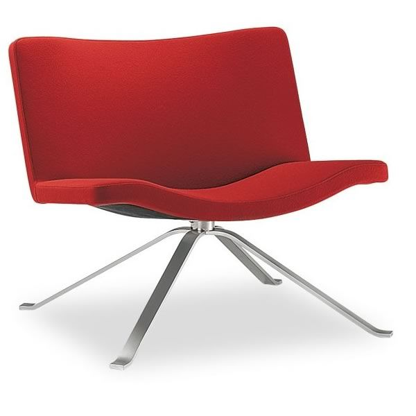 Wave Design Armchair By Tonon Swivel Or Fix Leather Or