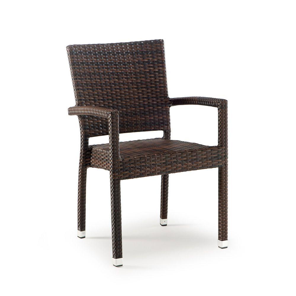 Tt903 silla apilable para jard n con reposabrazos estructura de aluminio tapizada en s mil - Sillas con reposabrazos ...
