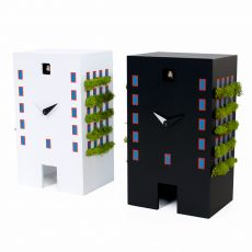 Urban cuckoo - Table or wall cuckoo clock, made of wood and stabilized moss, available in several colours
