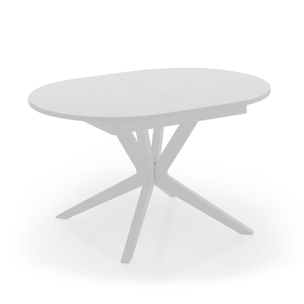 706 tavolo allungabile in legno con piano in vetro 130 x for Tavolo ovale in vetro allungabile