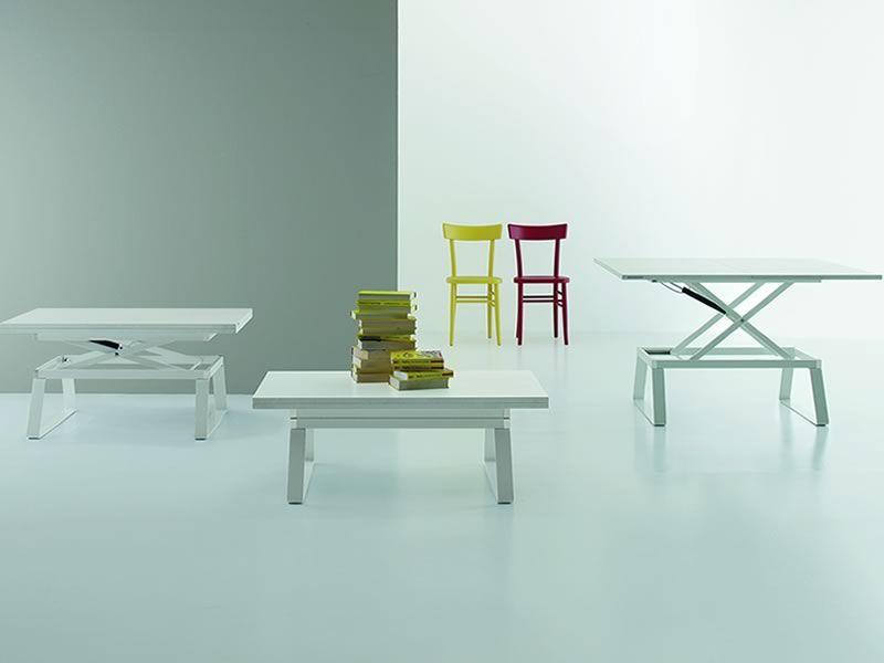 Orione - Tavolino trasformabile in tavolo da pranzo, altezza ...