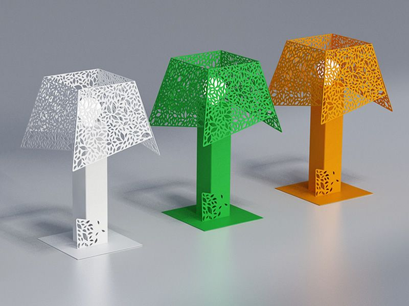 Leaf b lampada da tavolo in metallo led disponibile in - Lampada da tavolo verde ...