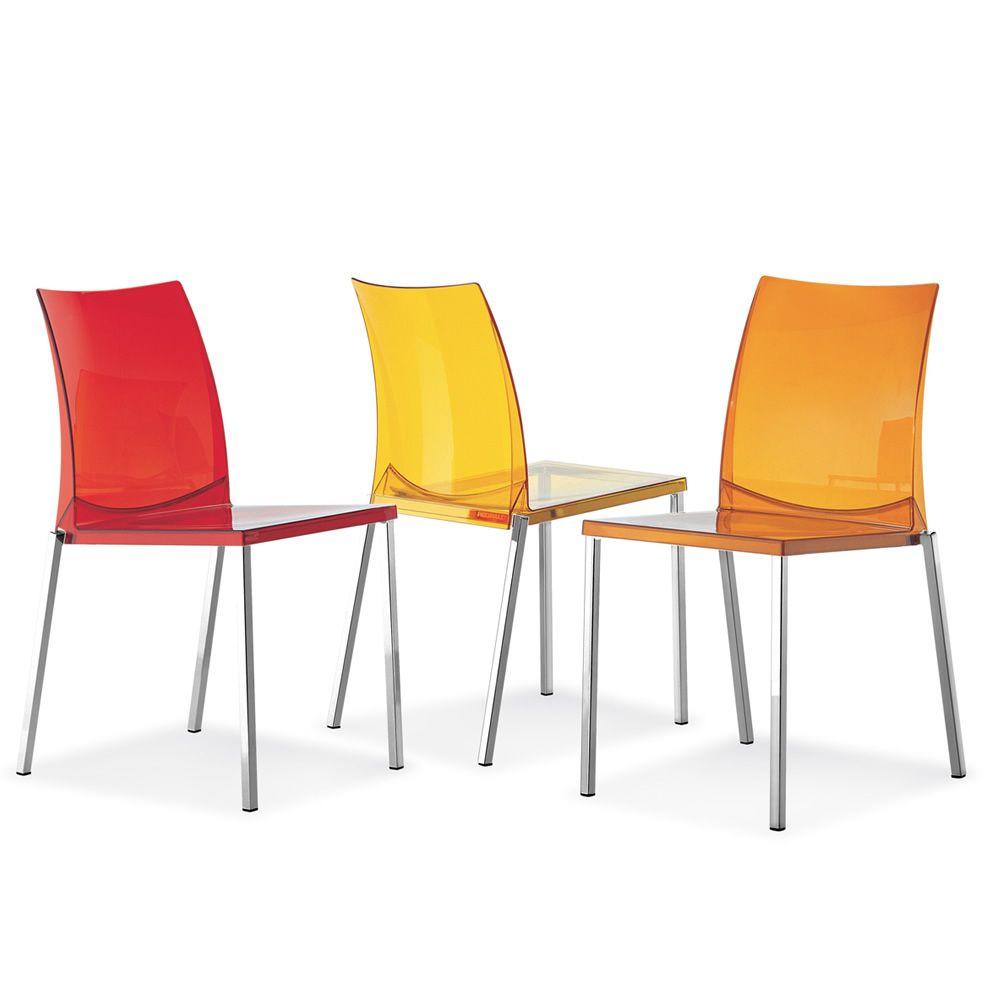 Kuadra 1271 pour bars et restaurants chaise de bar en m tal et polycarbonate empilable for Chaise bar couleur