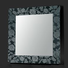Frame Q - Colico Design mirror, square 90x90 cm, methacrylate frame, with laser engraving damask pattern