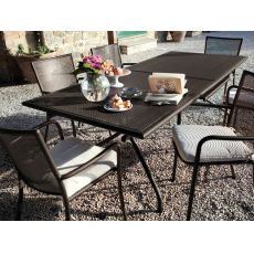 Athena 3428 - Emu table made of metal, extendable, for garden, in several colours