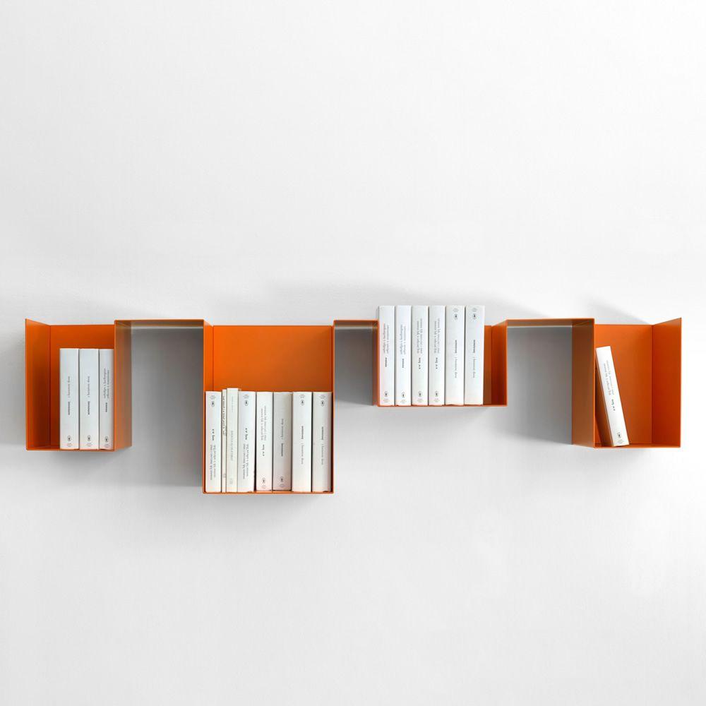 Mensole In Metallo Design.Spread Mensola Libreria Di Design In Metallo Modulare