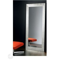 Flat s miroir avec cadre en bois d coration avec feuille for Miroir 70x170