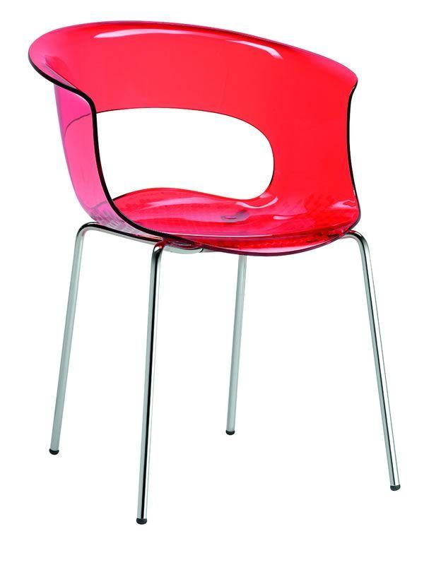 miss b 2690 chaise moderne en m tal et en polycarbonate sediarreda. Black Bedroom Furniture Sets. Home Design Ideas