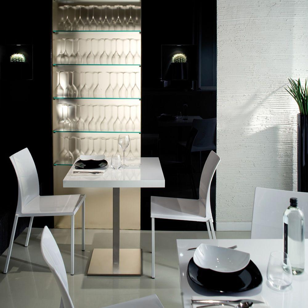Kuadra 1271 per bar e ristoranti sedia pedrali per bar for Sedie bianche design