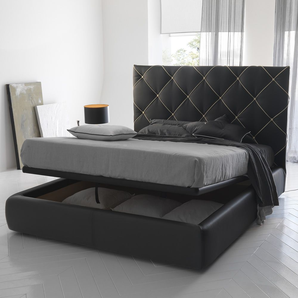 Dubai Padded Double Bed Several Coverings Available Also With Storage Box Sediarreda Online