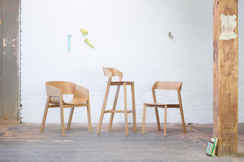Merano stool sgabello ton in legno con seduta in legno altezza