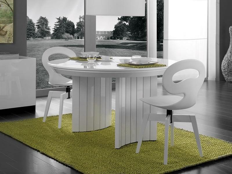 Eva sedia design in legno con scocca in polimero for Sedie bianche legno