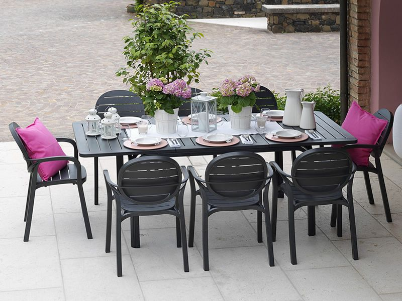 De 4 CollectionblancTourterellePolypropylène Erica D'exterieur Nardi Set Chaises Garden O8Pn0wk