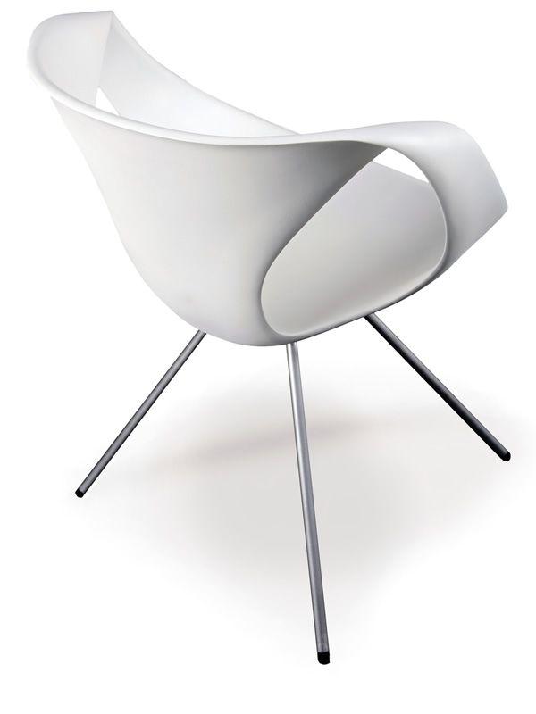 Up chair silla moderna de tonon en metal y poliuretano for Sillas giratorias modernas