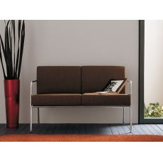 Billy 2 - Midj modern sofa in metal, leather, fabric or imitation leather covering