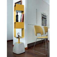 Urban-B - Domitalia bookcase made of steel and cement, swivel, different colours available
