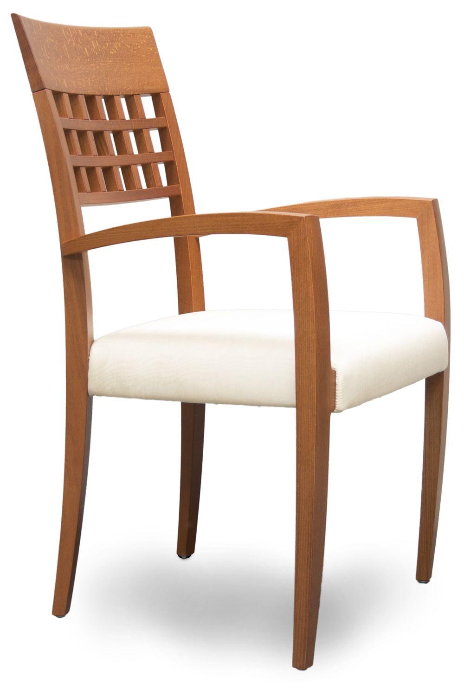 Episodes 317 silla moderna tonon con reposabrazos for Sillas madera modernas