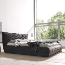 Nido - Padded double bed, several coverings available, removable covering, also with storage box