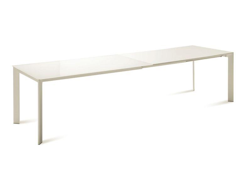 Universe 160 table domitalia en m tal diff rentes for Table 160 avec rallonge