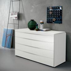 Kart - Commode Dall'Agnese en bois, disponible en différentes finitions, trois tiroirs
