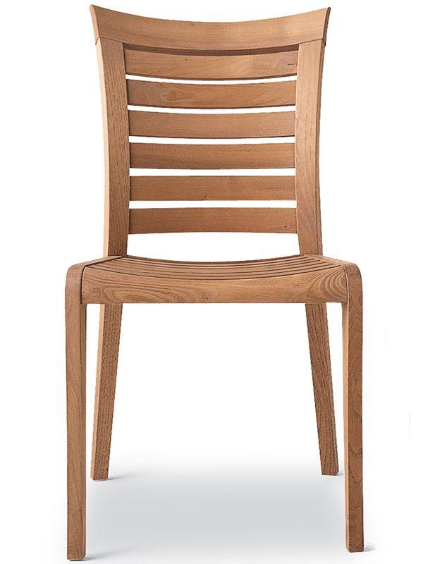 Mirage chaise pour jardin en bois robinier sediarreda - Chaise exterieur bois ...