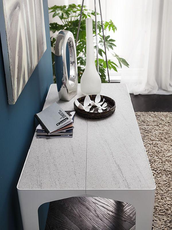 pa128 table console en m tal avec plateau 50x100 cm en diff rentes finitions rallonge. Black Bedroom Furniture Sets. Home Design Ideas