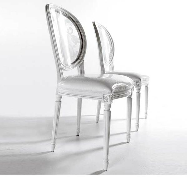 King metacrilato sillas de madera con respaldo en for Sillas metacrilato