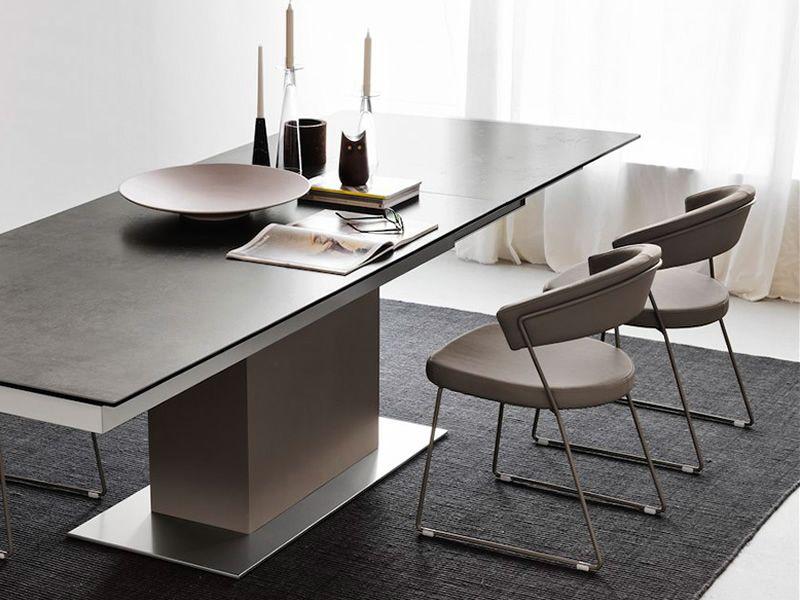 cb1022 sk new york chaise connubia calligaris en m tal avec rev tement en simili cuir. Black Bedroom Furniture Sets. Home Design Ideas