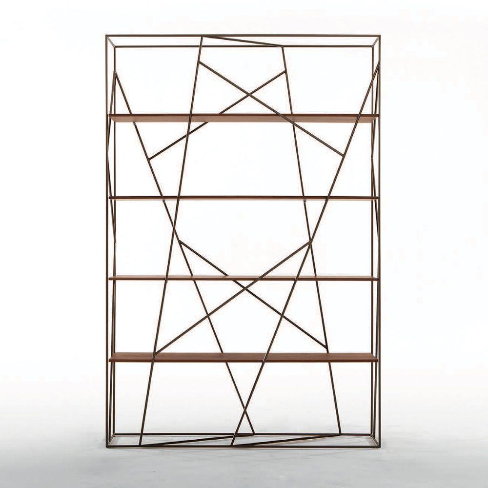 naviglio 7247 b cherregal tonin casa aus metall mit f cher aus glas oder holz in. Black Bedroom Furniture Sets. Home Design Ideas