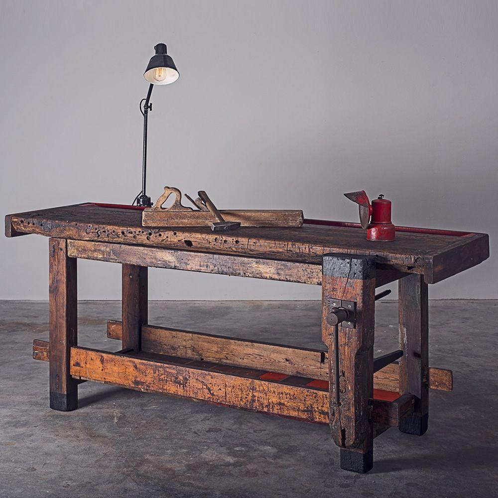 Workbench - Schreinertisch aus Holz, Platte 180x80 cm ...